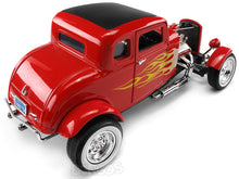 "Load image into Gallery viewer, 1932 Ford Coupe ""Hot Rod - Platinum Collection"" 1:18 Scale - MotorMax Diecast Model (Red)"