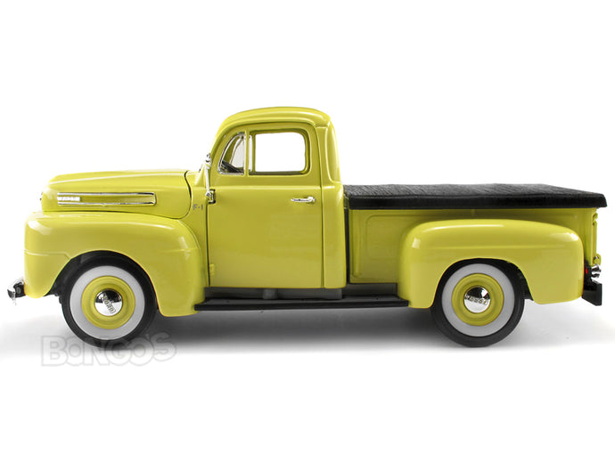 1948 Ford F-1 Pickup 1:18 Scale - Yatming Diecast Model Car (Yellow)