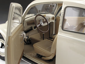 "1950 VW Beetle ""Split Window"" 1:18 Scale - Welly Diecast Model Car (Cream)"