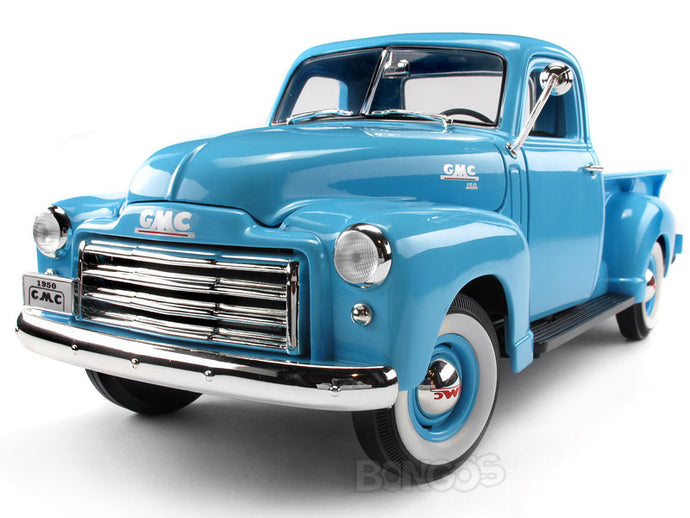 1950 GMC 150 Pickup 1:18 Scale - Yatming Diecast Model Car (Blue)