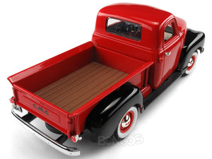 1950 GMC 150 Pickup 1:18 Scale - Yatming Diecast Model Car (Red/Black)