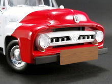 "Load image into Gallery viewer, ""SO-CAL"" 1953 Ford F-100 Pickup 1:18 Scale - ACME Diecast Model Car (Red/White)"