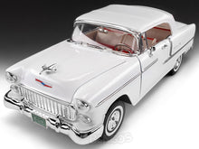 Load image into Gallery viewer, 1955 Chevy Bel Air 1:18 Scale - MotorMax Diecast Model Car (White)