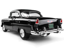 "Load image into Gallery viewer, 1955 Chevy Bel Air ""Hot Rod"" 1:18 Scale - MotorMax Diecast Model (Black)"