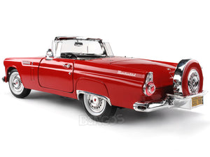 1956 Ford Thunderbird Roadster 1:18 Scale - MotorMax Diecast Model Car (Red)
