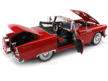 Load image into Gallery viewer, 1956 Ford Thunderbird Roadster 1:18 Scale - MotorMax Diecast Model Car (Red)