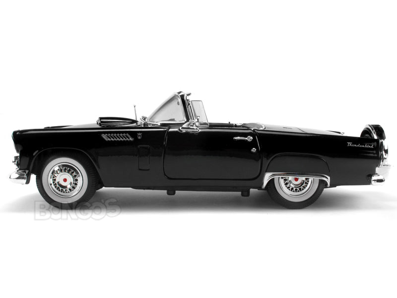 1956 Ford Thunderbird Roadster 1:18 Scale - MotorMax Diecast Model (Black)