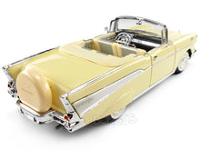 Load image into Gallery viewer, 1957 Chevy (Chevrolet) Bel Air Convertible 1:18 Scale- Yatming Diecast Model (Cream)