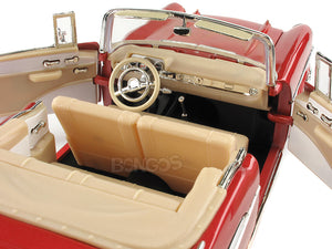 1957 Chevy (Chevrolet) Bel Air Convertible 1:18 Scale- Yatming Diecast Model Car (Red)