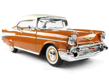 Load image into Gallery viewer, 1957 Chevy (Chevrolet) Bel Air Coupe 1:18 Scale- Yatming Diecast Model Car (Copper)