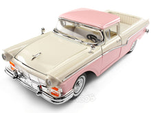 Load image into Gallery viewer, 1957 Ford Ranchero 1:18 SCALE - Yatming Diecast Model Car (Creram/Pink)