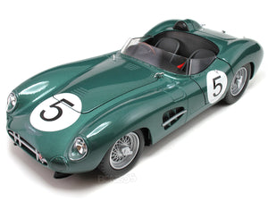 1959 Aston Martin DBR1 #5 1:18 Scale - Shelby Collectables Diecast Model Car (Green)