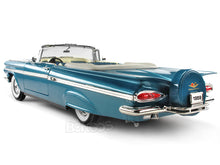 Load image into Gallery viewer, 1959 Chevy Impala Convertible 1:18 Scale - Yatming Diecast Model Car (Blue)