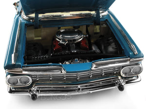 1959 Chevy Impala Convertible 1:18 Scale - Yatming Diecast Model Car (Blue)