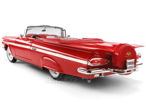1959 Chevy Impala Convertible 1:18 Scale - Yatming Diecast Model Car (Red)