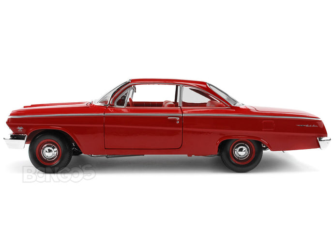 1962 Chevy Bel Air Hardtop 1:18 Scale - Maisto Diecast Model Car (Red)
