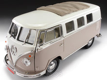 "Load image into Gallery viewer, 1962 VW Microbus ""Kombi"" 1:18 Scale - Yatming Diecast Model Car (Taupe)"