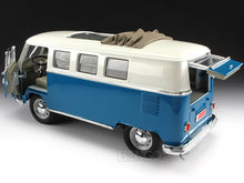 "Load image into Gallery viewer, 1962 VW Microbus ""Kombi"" 1:18 Scale - Yatming Diecast Model Car (Blue)"