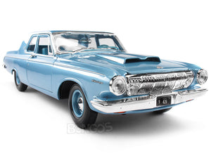 1963 Dodge 330 Hardtop 1:18 Scale - Maisto Diecast Model Car (Blue)