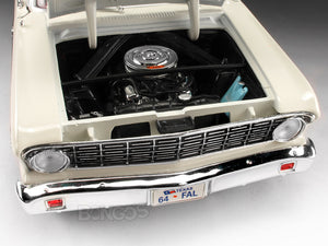 1964 Ford Falcon Coupe 1:18 Scale- Yatming Diecast Model Car (White)