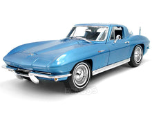 Load image into Gallery viewer, 1965 Chevy Corvette Stingray 1:18 Scale - Maisto Diecast Model Car (Blue)