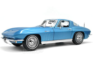 1965 Chevy Corvette Stingray 1:18 Scale - Maisto Diecast Model Car (Blue)