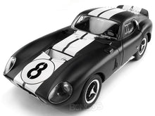 Load image into Gallery viewer, 1965 Shelby Cobra Daytona #8 1:18 Scale - Yatming Diecast Model Car (Matt Black)