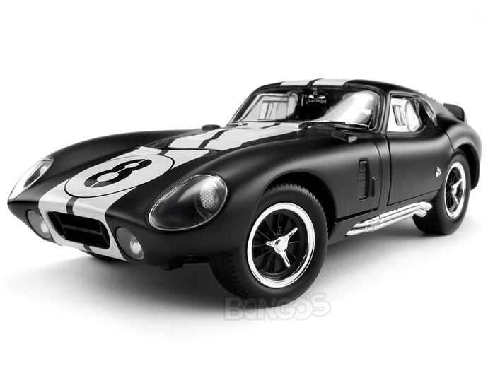1965 Shelby Cobra Daytona #11 1:18 Scale - Yatming Diecast Model Car (Matt Black)