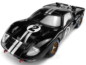 "1966 Ford GT-40 (GT40) Mk II #2 Le Mans ""Winner"" McLaren/Amon 1:18 Scale - Shelby Collectables Diecast Model Car (Black)"