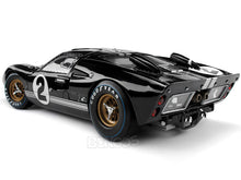 "Load image into Gallery viewer, 1966 Ford GT-40 (GT40) Mk II #2 Le Mans ""Winner"" McLaren/Amon 1:18 Scale - Shelby Collectables Diecast Model Car (Black)"