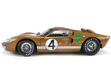 Load image into Gallery viewer, 1966 Ford GT-40 (GT40) Mk II #4 Le Mans Hawkins/Donohue 1:18 Scale - Shelby Collectables Diecast Model Car (Gold)