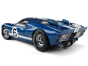 1966 Ford GT-40 (GT40) Mk II #6 Le Mans Andretti/Bianchi 1:18 Scale - Shelby Collectables Diecast Model Car (Blue)