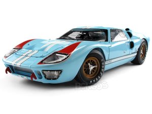 1966 Ford GT-40 (GT40) Mk II 1:18 Scale - Shelby Collectables Diecast Model Car (Gulf/Plain)