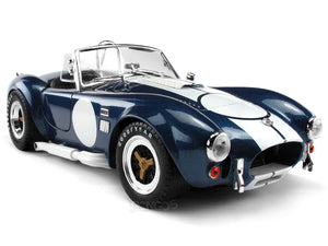 "1965 Shelby Cobra 427 S/C ""Signed Version"" 1:18 Scale - Shelby Collectables Diecast Model Car (Blue)"