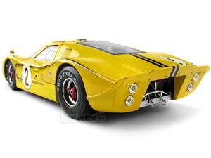 "1967 Ford GT-40 (GT40) Mk IV #2 ""Le Mans - McLaren/ Donohue"" 1:18 Scale - Shelby Collectables Diecast Model Car (Yellow)"