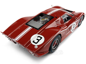 "1967 Ford GT-40 (GT40) Mk IV #3 ""Le Mans - Andretti/ Bianchi"" 1:18 Scale - Shelby Collectables Diecast Model Car (Red/Brown)"