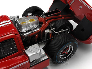 1967 Ford GT-40 (GT40) Mk IV 1:18 Scale - Shelby Collectables Diecast Model Car (Red)