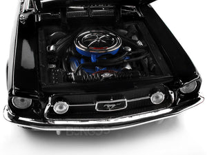 1967 Ford Mustang GTA Fastback 1:18 Scale - Maisto Diecast Model Car (Black)
