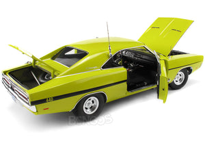 """Dirty Mary Crazy Larry"" 1969 Dodge Charger R/T 440 1:18 Scale - AutoWorld Diecast Model Car (Lime)"