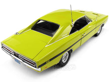 "Load image into Gallery viewer, ""Dirty Mary Crazy Larry"" 1969 Dodge Charger R/T 440 1:18 Scale - AutoWorld Diecast Model Car (Lime)"
