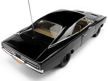 "Load image into Gallery viewer, 1969 Dodge Charger R/T ""Dukes of Hazzard General Lee - Happy Birthday"" 1:18 Scale - AutoWorld Diecast Model Car (Black)"