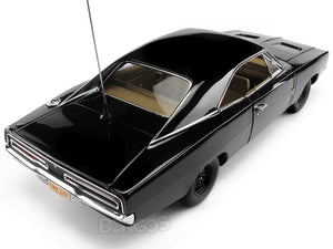 "1969 Dodge Charger R/T ""Dukes of Hazzard General Lee - Happy Birthday"" 1:18 Scale - AutoWorld Diecast Model Car (Black)"