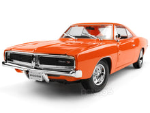 Load image into Gallery viewer, 1969 Dodge Charger R/T 1:18 Scale - Maisto Diecast Model Car (Orange)