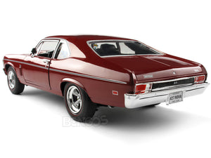 "1969 Chevy Nova ""Baldwin Motion"" SS427 1:18 Scale - AutoWorld Diecast Model Car (Red)"