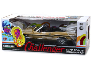 1970 Dodge Challenger R/T 426 HEMI Convertible 1:18 Scale - Greenlight Diecast Model Car (Gold)