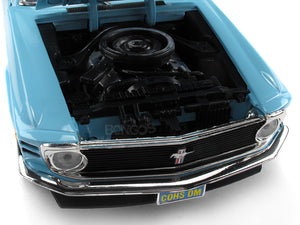 1970 Ford Boss 429 Mustang 1:18 Scale - MotorMax Diecast Model Car (Blue)