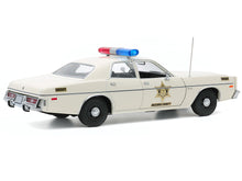 "Load image into Gallery viewer, Dukes of Hazzard - 1977 Plymouth Fury ""Hazzard County"" 1:18 Scale - Greenlight Diecast Model Car"