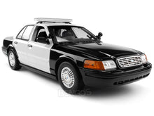 Load image into Gallery viewer, 2001 Ford Crown Victoria Police Interceptor (Blank) 1:18 Scale - MotorMax Diecast Model Car (B/W)