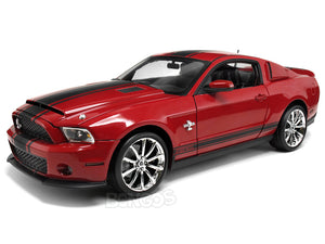 "2010 Shelby GT500 ""Super Snake"" 1:18 Scale - Shelby Collectables Diecast Model Car (Red)"