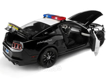 "Load image into Gallery viewer, 2013 Ford Mustang Boss 302 ""Highway Patrol"" 1:18 Scale - Shelby Collectables Diecast Model Car (B/W)"